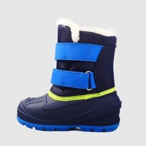 Boys Winter Snow Boots Blue w/ Velcro Closure NWT